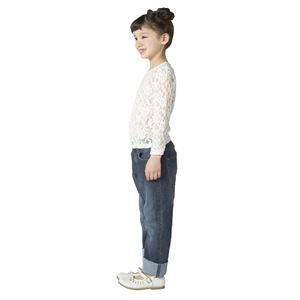 子供用 コスプレ衣装 【レーストップス ホワイト 140cmサイズ】 洗える ポリエステル 〔ハロウィン〕
