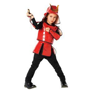 子供用 コスプレ衣装 【甲冑ファイター 120cmサイズ】 兜 鎧 腰巻き 手甲付き ポリエステル 〔ハロウィン〕の写真1
