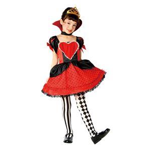 子供用 コスプレ衣装 【ラブリーハートクイーン 100cmサイズ】 ボタン仕様 ポリエステル 〔ハロウィン〕