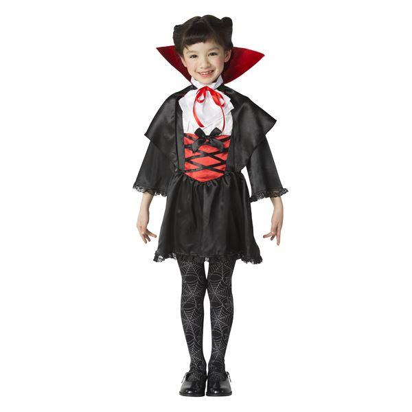 【吸血鬼子どもコスプレ】ラブリーヴァンパイア キッズ ボタン 120cm