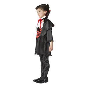 子供用 コスプレ衣装 【ラブリーヴァンパイア 120cmサイズ】 ボタン仕様 ポリエステル 〔ハロウィン〕