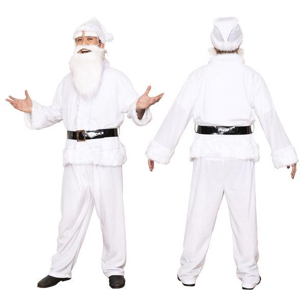 【サンタコスプレ ホワイト・白/メンズ】 GOGOサンタサン ホワイト