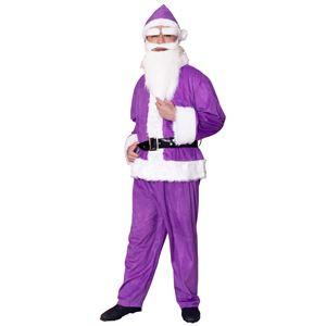 【クリスマスコスプレ 衣装】 GOGOサンタサン パープル - 拡大画像