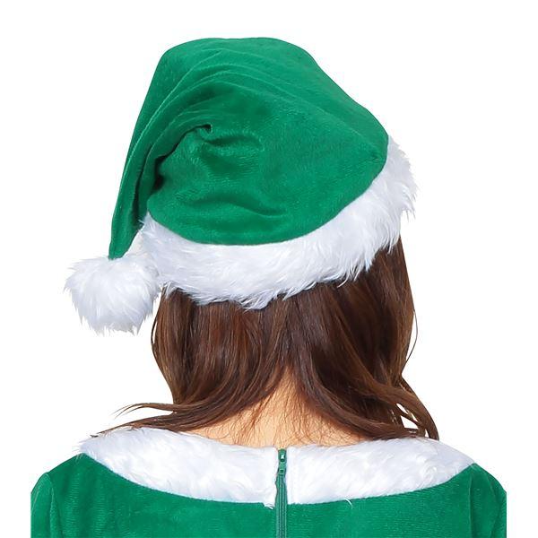 少しくすんだ緑がお洒落!サンタ帽子 グリーン