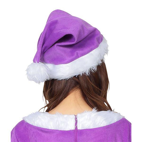 大人な雰囲気を出したいならこれ♪サンタ帽子 パープル