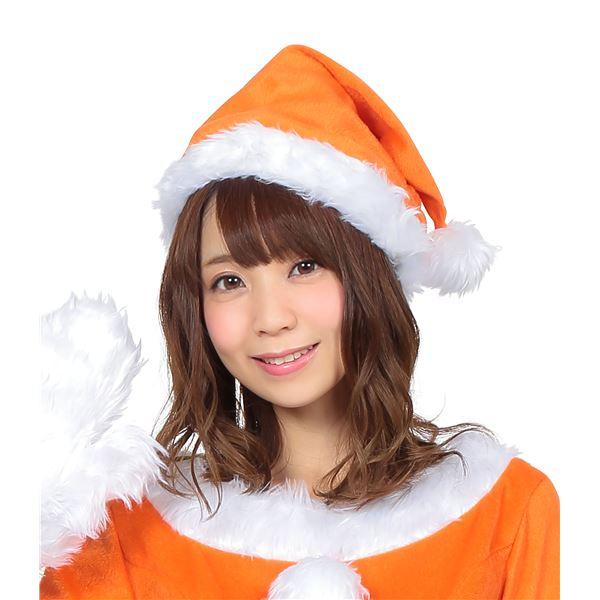 ビタミンカラーが可愛い!サンタ帽子 オレンジ