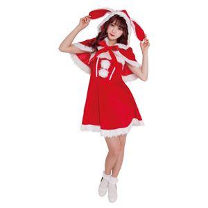 【クリスマスコスプレ 衣装】 バニーケープサンタの写真1