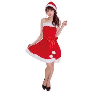 【クリスマスコスプレ 衣装】 パーティーサンタ レッド