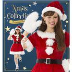 【クリスマスコスプレ 衣装】 キャンディサンタ 2L