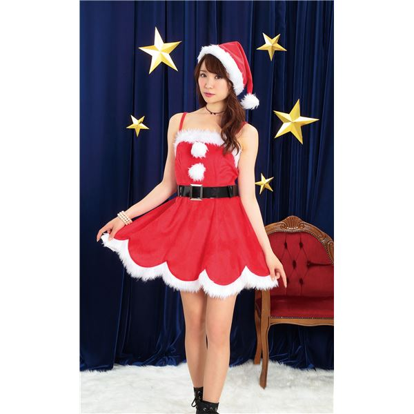 【クリスマス サンタコスプレ/レディー】 デイジーワンピースサンタ