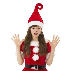 クリスマスコスプレ/衣装 【ウィッチサンタハット】 ポリエステル 〔イベント パーティー〕の写真1