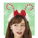 クリスマスコスプレ/衣装 【キャンディケインカチューシャ】 ポリスエステル 〔イベント パーティー〕の画像