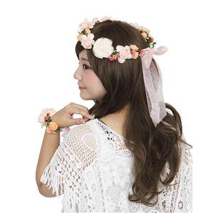花かんむり&バングルセット オレンジ