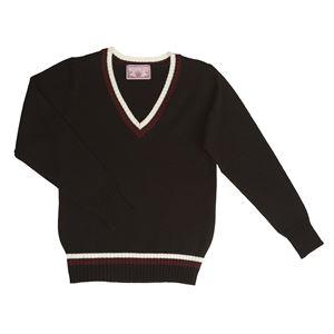制服/コスプレ衣装 【Vネックセーター ライン ブラック Mサイズ】 アクリル 『TeensEver』 〔イベント パーティー〕  の画像