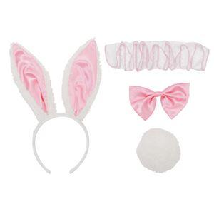 コスプレ衣装/コスチューム 【ワンダーバニーカチューシャセット】 付け襟 リボンブローチ しっぽブローチ付き 『Pastel bunny』