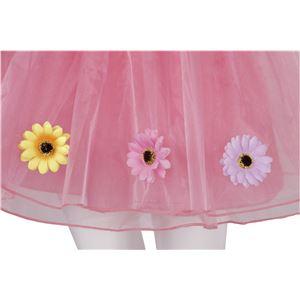 フラワーボリュームスカート ピンク