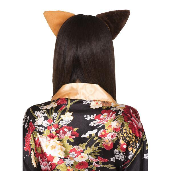 猫耳カチューシャ 立ち耳 ミケネコ