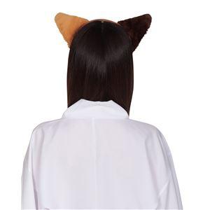 猫耳カチューシャ ふせ耳 ミケネコ