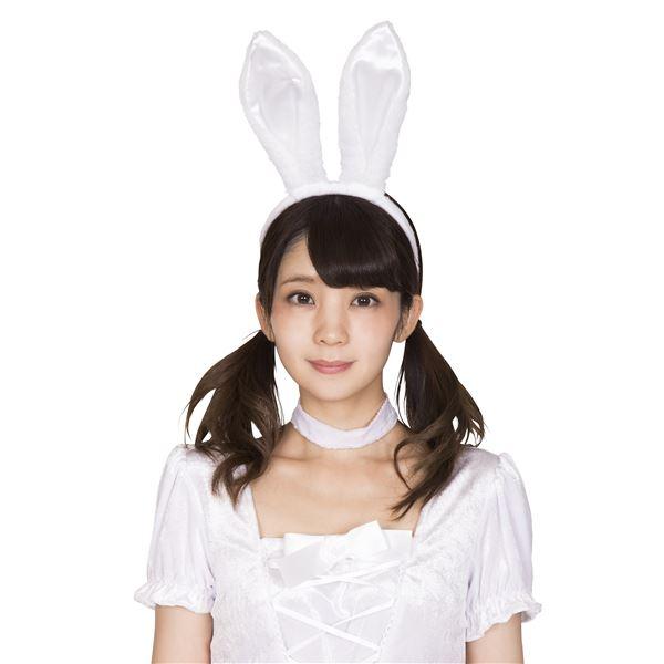 うさ耳カチューシャ 白×白