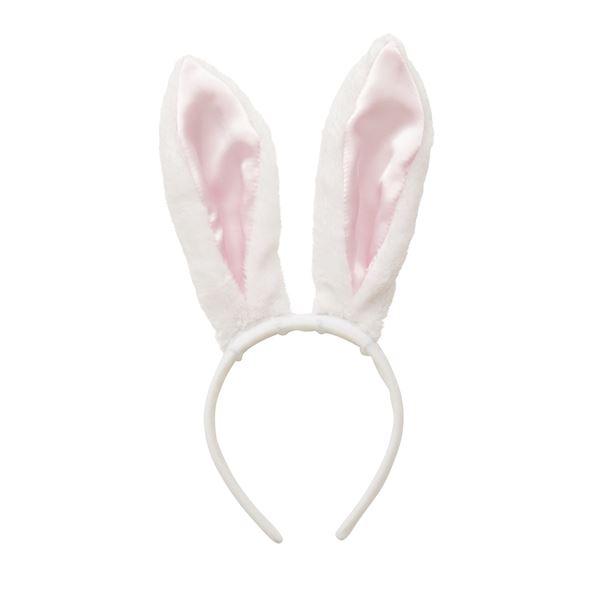 うさ耳カチューシャ 白×ピンク