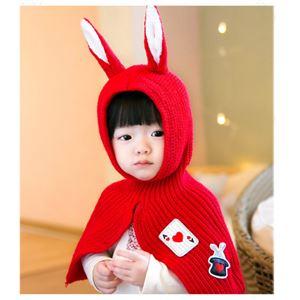 うさみみケープ Baby 赤の画像1