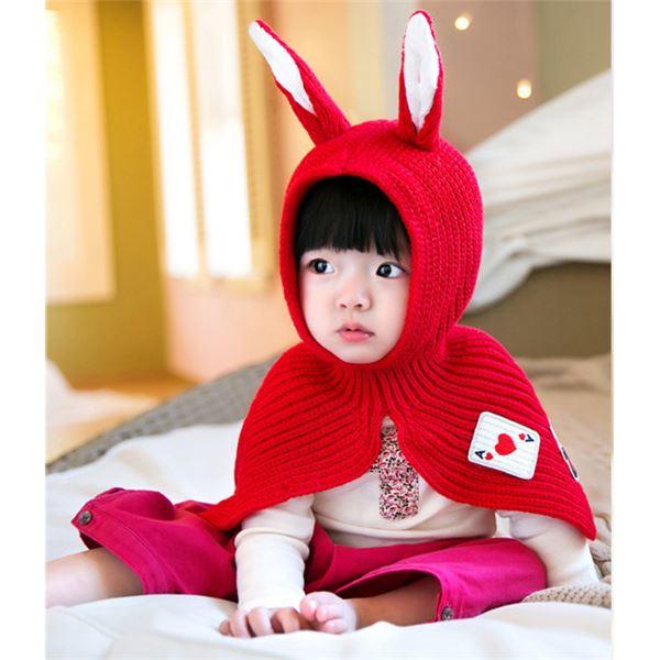 うさみみケープ Baby 赤