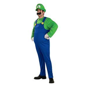 コスプレ衣装/コスチューム 【Luigi Deluxe Adult ジャンプスーツ】 ポリエステル 『Disguise』 〔ハロウィン〕