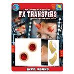 コスプレ衣装/コスチューム Tinsley Transfers Devil Horns 装飾メイクシール