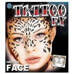 コスプレ衣装/コスチューム Tinsley Transfers Cheetah Face タトゥーシール