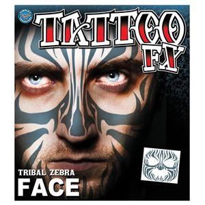 コスプレ衣装/コスチューム Tinsley Transfers Tribal Zebra Face タトゥーシールの写真1