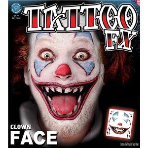 コスプレ衣装/コスチューム Tinsley Transfers Clown Face タトゥーシールの写真1