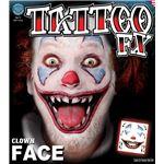 コスプレ衣装/コスチューム Tinsley Transfers Clown Face タトゥーシール