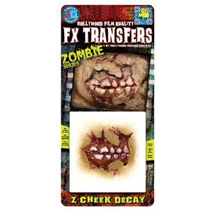 コスプレ衣装/コスチューム Tinsley Transfers Zombie Cheek Decay 装飾メイクシールの写真1