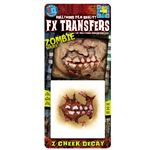 コスプレ衣装/コスチューム Tinsley Transfers Zombie Cheek Decay 装飾メイクシール