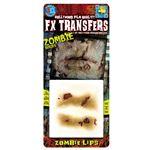 コスプレ衣装/コスチューム Tinsley Transfers Zombie Lips 装飾メイクシール