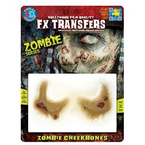 コスプレ衣装/コスチューム Tinsley Transfers Zombie Cheekbones 装飾メイクシールの写真1