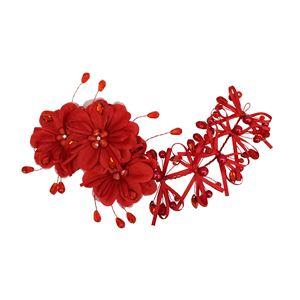 和風 コスプレ衣装/コスチューム 小物 【枝垂れ髪飾り】 26cm ポリエステル100% 『花鳥風月』