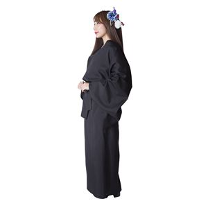 【コスプレ衣装/コスチューム】花鳥風月 着物 無地(黒)