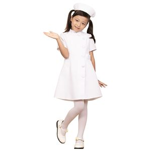 コスプレ衣装/コスチューム【ナース120cmサイズ】子供用ハロウィンおままごとお遊戯会『キッズジョブ』