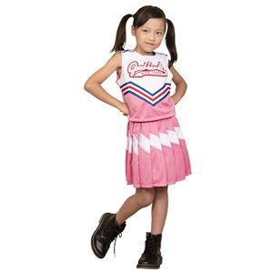 コスプレ衣装/コスチューム【チアガール100cmサイズピンク】子供用ハロウィンおままごとお遊戯会『キッズジョブ』