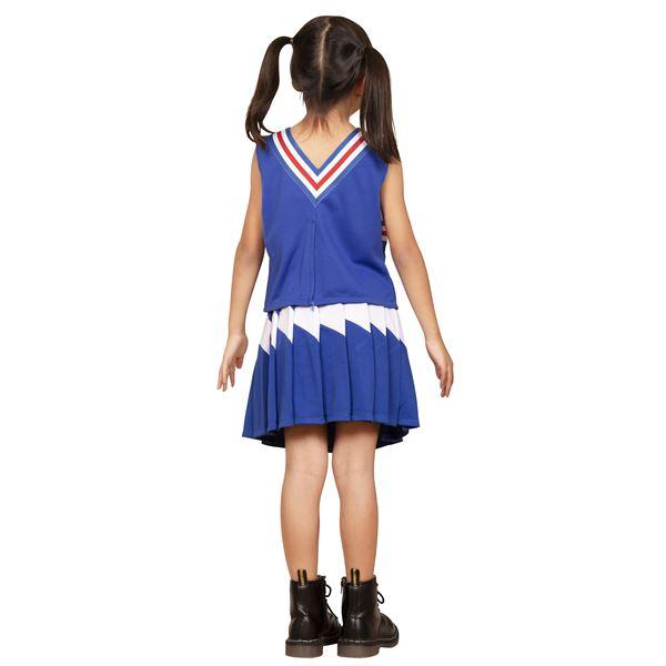 【コスプレ衣装/コスチューム】キッズジョブ チアガール 100cmサイズ 青