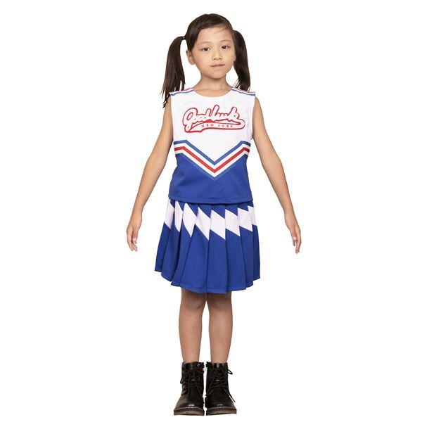 【コスプレ衣装/コスチューム】キッズジョブ チアガール 120cmサイズ 青