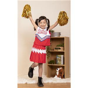 【コスプレ衣装/コスチューム】キッズジョブ チアガール 120cmサイズ 赤