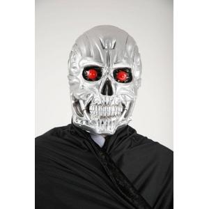 ゴムマスク メタルガイコツ