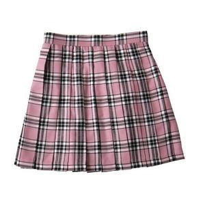 プリーツスカート(ピンク×黒×白) M
