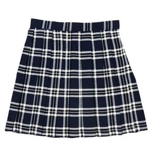 【コスプレ】 プリーツミニスカート(紺×白) L 4560320825081 - 拡大画像