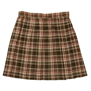 【コスプレ】 プリーツスカート(こげ茶×ピンク) L 4560320825128 - 拡大画像