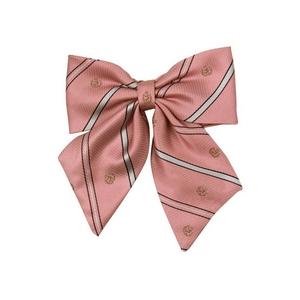 柄リボン 薄ピンク/紋章