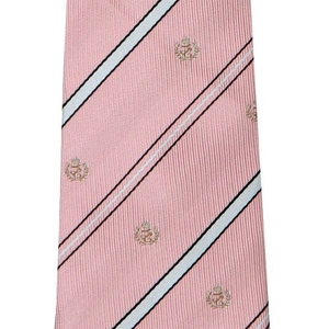 柄ネクタイ 薄ピンク/紋章