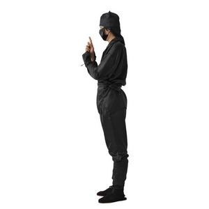 コスプレ衣装/コスチューム 【忍者 コスチュームセット】 頭巾 マスク 上着 腕カバー 腰紐 パンツ 足カバー付き 〔イベント〕